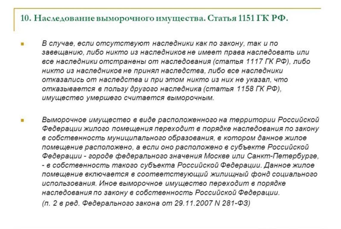 Статья 1115 ГК РФ.